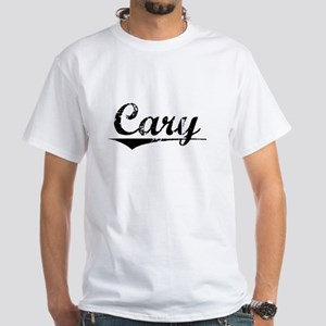 Cary, Vintage White T-Shirt